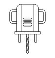 boer drill icon outline vector image vector image