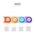 business data visualization abstract elements of vector image vector image
