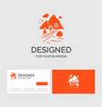 business logo template for rocks tree hill vector image