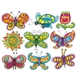 Butterfly icon set vector | Price: 3 Credits (USD $3)