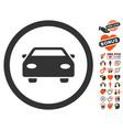 car icon with valentine bonus vector image vector image
