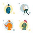 cartoon people character different professions set vector image