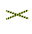 caution yellow tape vector image vector image