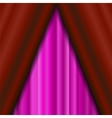 Cinema Closed Pink Curtain vector image vector image