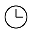 clock icon - iconic design vector image vector image