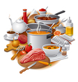 cooking food vector image vector image
