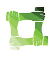 crossed hands icon vector image