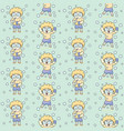 cute bubble boy with glasses seamless pattern vector image vector image