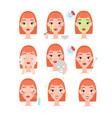 daily skin care set cartoon vector image