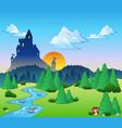 fairy tale landscape 1 vector image vector image