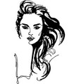 fashion style woman portrait vector image vector image