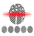 finger print scanning clipart