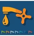 Flat design faucet vector image