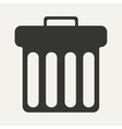 Flat in black and white mobile application waste vector image vector image