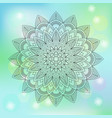 floral mandala on abstract background vector image vector image