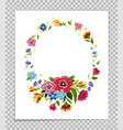 flower frame template for greeting card vector image vector image