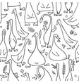 funny goose family seamless pattern for your vector image vector image