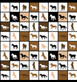geometrical seamless pattern with horses vector image vector image