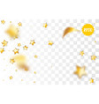 golden holiday star confetti random falling vector image vector image