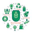 green eco concept vector image