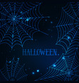 halloween greeting card template with glowing vector image