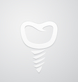 Icon false tooth vector image