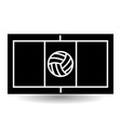 icon playground volleyball vector image vector image