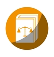 Justice book isolated icon