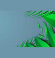 leaf green card designrain forest branch leaves vector image vector image