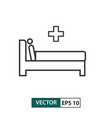 man in hospital bed icon outline style eps 10 vector image vector image