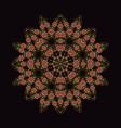 mandala ornament background round vintage vector image vector image