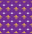mardi gras seamless pattern hand drawn sketched vector image