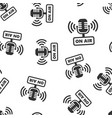 microphone icon seamless pattern background live vector image