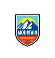 mountain expedition - concept badge climbing logo vector image vector image