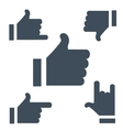 New characters like button for social networking vector image