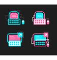 Online mentorship concept logo Online training vector image vector image
