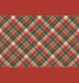 pixel fabric texture classic plaid seamless vector image vector image