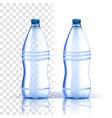 plastic bottle recycle beverage bluer vector image vector image