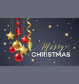 poster merry christmas holiday premium vector image vector image