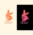rabbit abstract logo template icon design vector image vector image