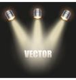 Red Presentation platform vector image vector image