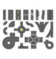 road map toolkit - set of modern city vector image vector image