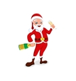 Santa Claus with Christmas toys and candy vector image vector image