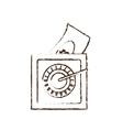save box money cash bills sketch vector image vector image