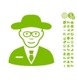 Scientist Icon With Free Bonus vector image
