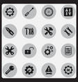 set of 16 editable service icons includes symbols vector image vector image