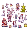 Set of New Year Merry Christmas vector image vector image