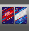 sport template design abstract background vector image vector image