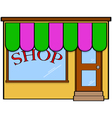Store front vector image vector image