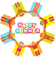 summer beach people vector image vector image